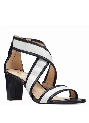 Nine West Kalın Topuklu Sandalet Lacivert